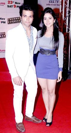Rithvik Dhanjani with Asha Negi at the special bash for Chennai Express hosted by Zee TV. #Bollywood #Fashion #Style #Beauty
