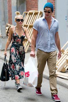 CVS Run    Miley Cyrus and Liam Hemsworth stroll around Philadelphia, Penn., Liam carrying a pharmacy bag, on July 19.