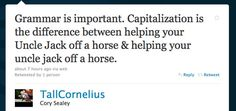 Capitalization. It matters.