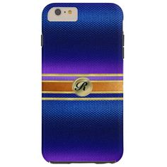 Professional Copper and Gold Monogram iPhone Case
