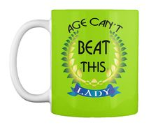 Evergreen Grandmom's Mug Lime Green Mug Front