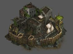 Bandit Fortress Fantasy City, Fantasy Castle, Fantasy Rpg, Medieval Fantasy, Dwarven City, Game Card Design, Rpg Map, Medieval Fortress, Dungeon Maps