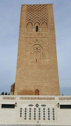Torre tumba Mohamed V en Casablanca
