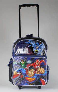 Justice League Large Rolling Backpack « Clothing Impulse