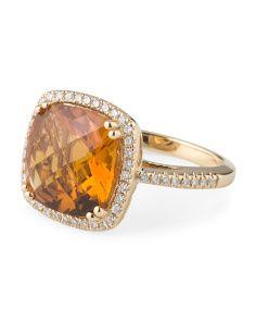 image of 14k Yellow Gold Diamond Ring