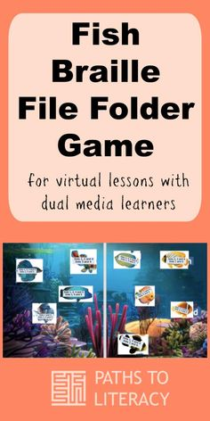 This electronic fish braille file folder game can be used in virtual lessons with dual media learners. Visually Impaired Activities, Preschool Special Education, File Folder Games, Preschool Printables, School Psychology, Learning Disabilities, Home Schooling, Social Skills, Life Skills