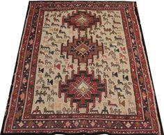 persian rug soumak rug shahsavan rug carpet rug beige by POCCARugs