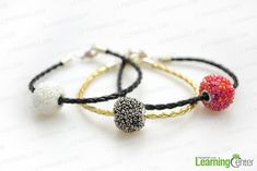 DIY tutorial-how to make shamballa bracelet instructions - Pandahall.com