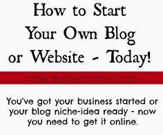 Start a Website or Blog - Hall of Fame Moms | Ohio Blog