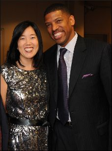 Michelle Rhee Johnson and Kevin Johnson.  First couple of Sacramento.  Education activists.