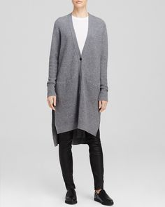 Vince Cardigan - Ribbed Cashmere | Bloomingdale's