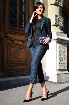 Suit Fashion, Look Fashion, Womens Fashion, Suits For Women, Clothes For Women, Looks Street Style, Simple Shirts, Work Wardrobe, Business Attire