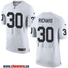 Men's Oakland Raiders #30 Jalen Richard NEW White Road Stitched NFL Nike Elite Jersey