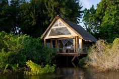 Sindabezi Island is a private island on the Zambezi River in Zambia, located near the famous Victoria Falls. Luxury Camping, Luxury Travel, Victoria Falls, Lodges, Best Hotels, Beautiful Places, National Parks, Island, Camps