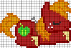 Big Macintosh Sleeping Perler Bead Pattern / Bead Sprite