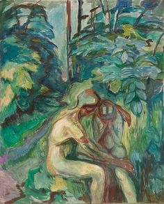 Consolation in the Forest 1924–25 / Oil on canvas / 215 x 173 cm Munch Museum