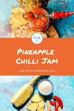 This Pineapple Chilli Jam is a sweet and sour sensation. Sweet chunks of pineapple with the heat and kick of fresh chillies.  It's easy to make and is a lovely relish to serve with burgers, cheese, curries and cold meats #pineapple #relish #jam #chilli #reicpe #holiday #gift Easy Summer Meals, Summer Recipes, Holiday Recipes, Easy Meals, Blender Recipes, Jam Recipes, Kitchen Recipes, Picnic Recipes, Picnic Foods