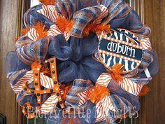 Auburn College Mesh Wreath by lesleepesak on Etsy, $80.00
