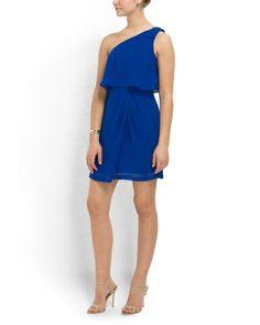 One Shoulder Crepe Dress - Women - T.J.Maxx