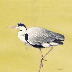 Stalking Heron - Original Watercolour Painting