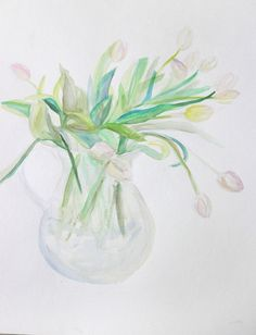 Vase of Tulips by Mary Jo Major