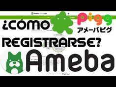 COMO REGISTRARSE EN AMEBA (アメーバ)//Crear cuenta en Ameba pigg//