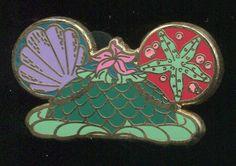 Character Earhat Mystery Pack Ariel Little Mermaid Disney Pin 93705 | eBay