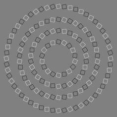Líneas rectas que parecen torcidas, imágenes que aparentan movimiento y fotos en blanco y negro que cobran color