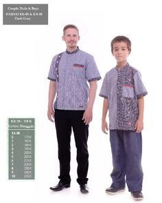 Baju Couple HAI-HAI KK-08 & KA-08 DARK GREY