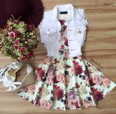 Image shared by Find images and videos about fashion, outfits and vestidos on We Heart It - the app to get lost in what you love. Cute Summer Outfits, Cute Casual Outfits, Pretty Outfits, Pretty Dresses, Stylish Outfits, Beautiful Dresses, Casual Dresses, Summer Dresses, Outfit Summer