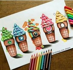 Imagen de instagram, snapchat, and ice cream