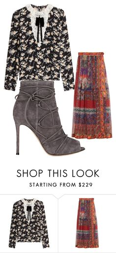 """Untitled #812"" by bellagioia ❤ liked on Polyvore featuring The Kooples, Etro and Gianvito Rossi"