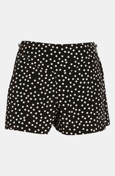 Black and White Polka Dot Shorts