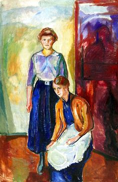 Two Maids, 1915 by Edvard Munch (Norwegian 1863–1944)