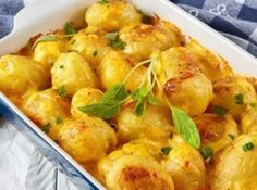 Czech Recipes, New Recipes, Vegan Recipes, Cooking Recipes, Ethnic Recipes, Easy Snacks, Easy Healthy Recipes, Easy Meals, Potato Recipes