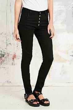 Courtshop Cody Chrome High Waist Skinny Jeans in Black