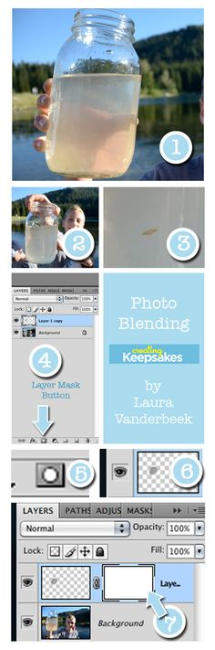 How to blend photos in Photoshop or Photoshop Elements, by Laura Vanderbeek for Creating Keepsakes magazine. #scrapbook #scrapbooking #creatingkeepsakes