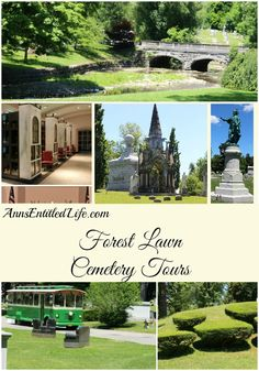 Forest Lawn Cemetery Trolley Tours; Forest Lawn Cemetery located in Buffalo, NY is rich in history. Sunday in the Cemetery offers guided trolley and walking tours, by trained docents that include wonderful, informative vignettes.  http://www.annsentitledlife.com/newyork/forest-lawn-cemetery-trolley-tours/
