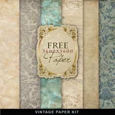 Far Far Hill - Free database of digital illustrations and papers: Freebies Vintage Paper Kit