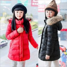 36.81$  Watch here - http://air3r.worlditems.win/all/product.php?id=32712171113 - 2016 New Winter Girls Jackets & Coats  Fashion Big Fur Collar  Long Thick Warm Down & Parka Coats  For 6-12year
