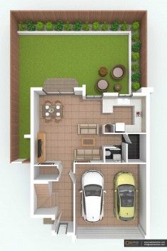 2D Top View Design. Kitchen Planning photo - 8