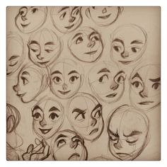 Disney-esque faces.