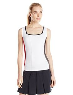Bolle Women's Heat Wave Square Neck Tank Top, Large, White