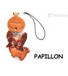 Papillon Leather Cellularphone Charm