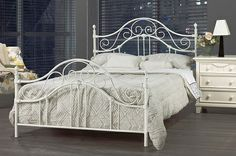 23 Best Beds Images King Beds Metal Beds White Metal Bed