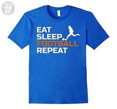 Men's Eat Sleep Football Repeat TShirt XL Royal Blue (*Amazon Partner-Link)