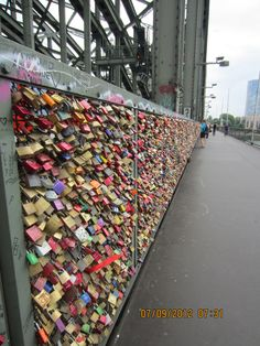 Locks of Love. Koln, Germany. Loved it when I was here. Want to go back and put my lock here.