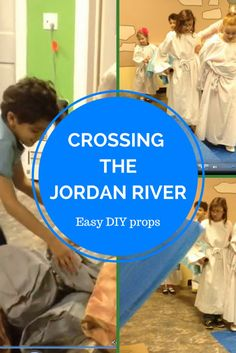 How to make a river that opens up to re-enact the story of the Israelites crossing the Jordan River. Bible Crafts For Kids, Bible Lessons For Kids, Vbs Crafts, Bible Study Guide, Rio, Kids Pages, Kids Church, Church Camp, Vacation Bible School
