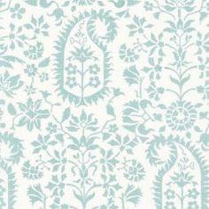 Fabric | Kalika Paisley Print in Aquamarine | Schumacher