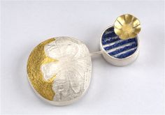 Felicity Peters, Australia, Brooch, Use it or lose it No 7 Stg silver 24ct gold Keum Boo lapis lazuli